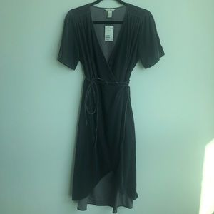 H+M purple /grey wrap dress - NEVER WORN, TAGS ON